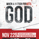 When A Nation Forgets God Church Flyer Template - GraphicRiver Item for Sale