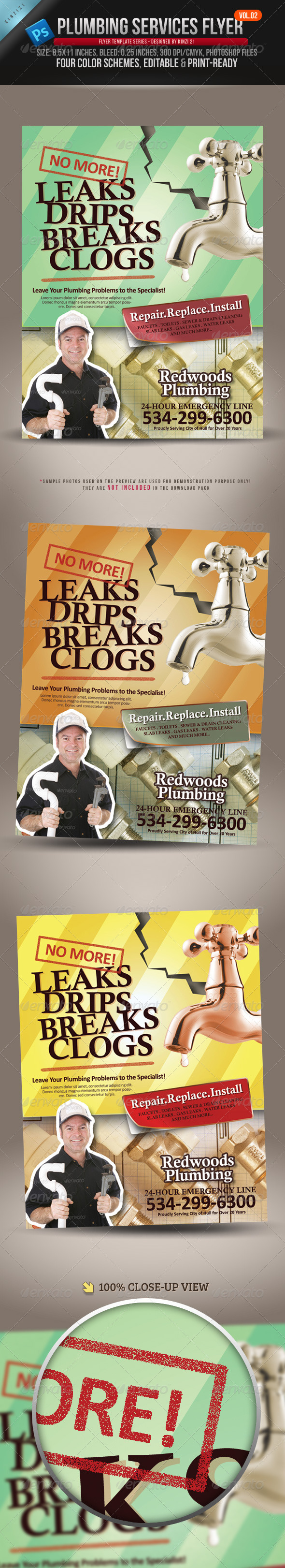 Plumbing Services Flyer Vol.02 - Corporate Flyers