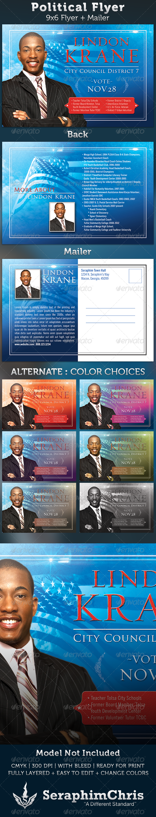 GraphicRiver Political 6x9 Flyer Template 3182585