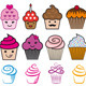 Cupcake Designs, Vector Set - GraphicRiver Item for Sale