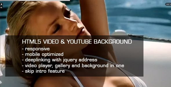 CodeCanyon HTML5 Video & Youtube background 1555660