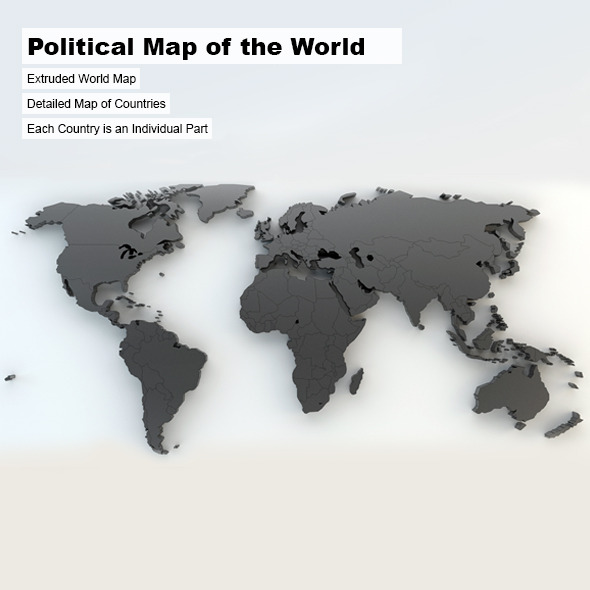 3DOcean Political Map of the World 3183739
