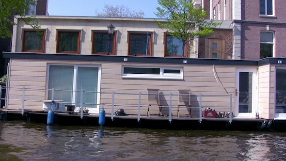 Boat Trip Through Canals of Amsterdam Holland