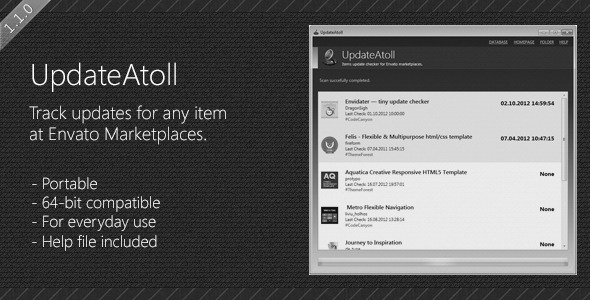 CodeCanyon UpdateAtoll check updates for any item 3121089
