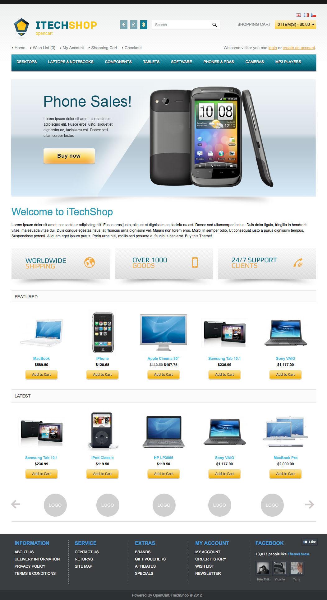 iTechShop OpenCart Simple Universal Theme