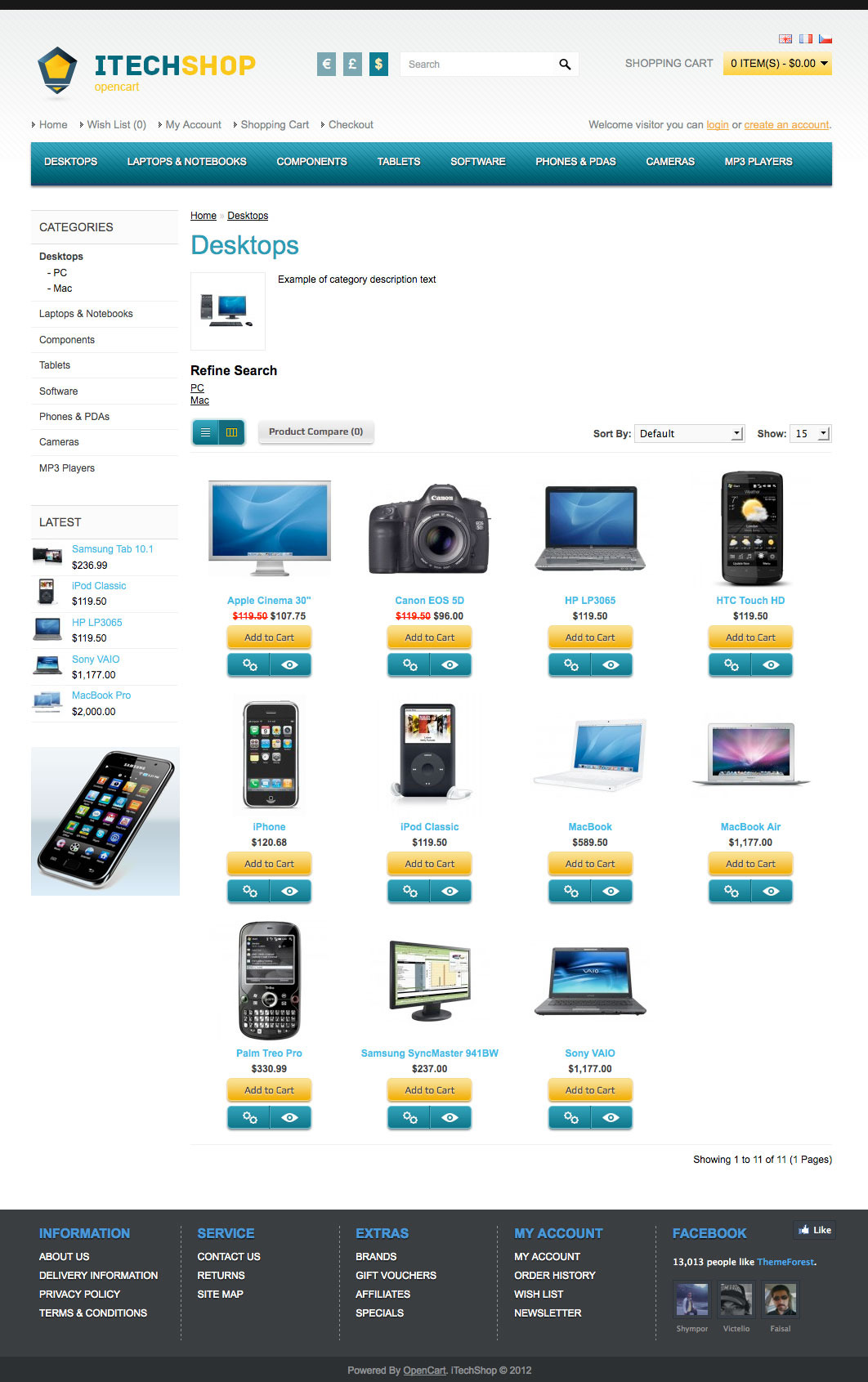 iTechShop OpenCart Simple Universal Theme