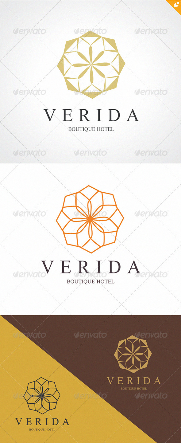 Verida boutique hotel logo graphicriver for Boutique hotel logo