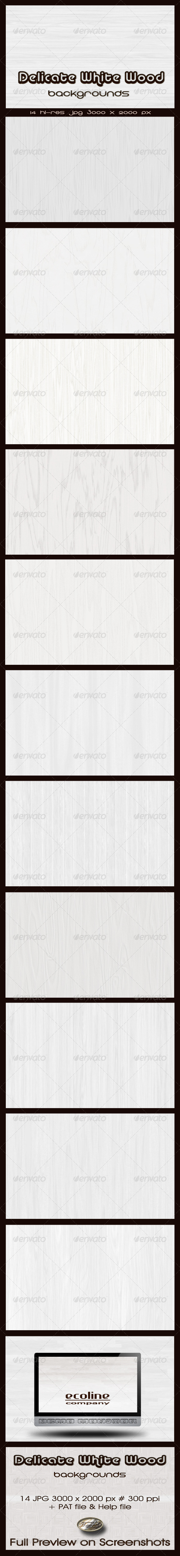 GraphicRiver Delicate White Wood Backgrounds 2180837