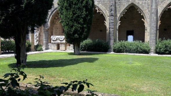 Inner Yard Of Bellapais Abbey Kyrenia Cyprus 2
