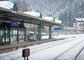Platform Station. Zell am See. Austria - PhotoDune Item for Sale