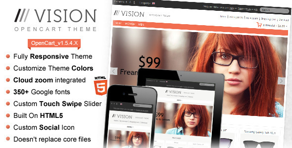 ThemeForest Vision Responsive OpenCart Theme 2846904