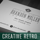 Creative Retro Business Card 3 - GraphicRiver Item for Sale