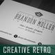Creative Retro Business Card 3 - GraphicRiver Item for Sale
