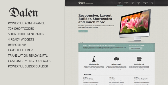 ThemeForest Dalen Corporate WordPress Theme 3170954