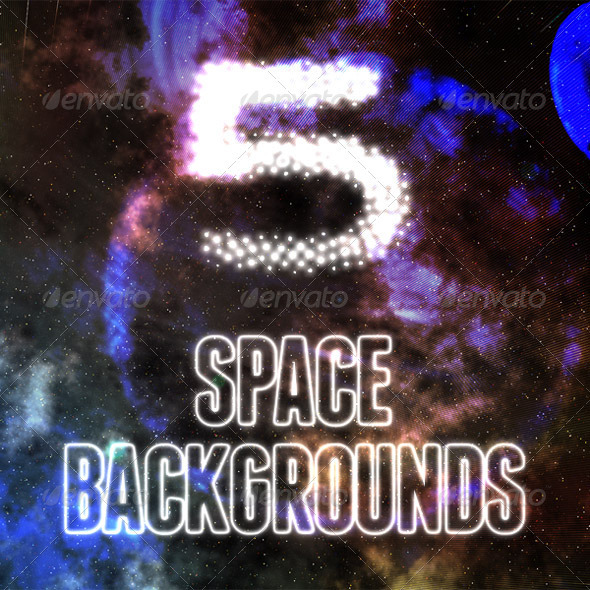 5 Ethereal Space Backgrounds - Abstract Backgrounds