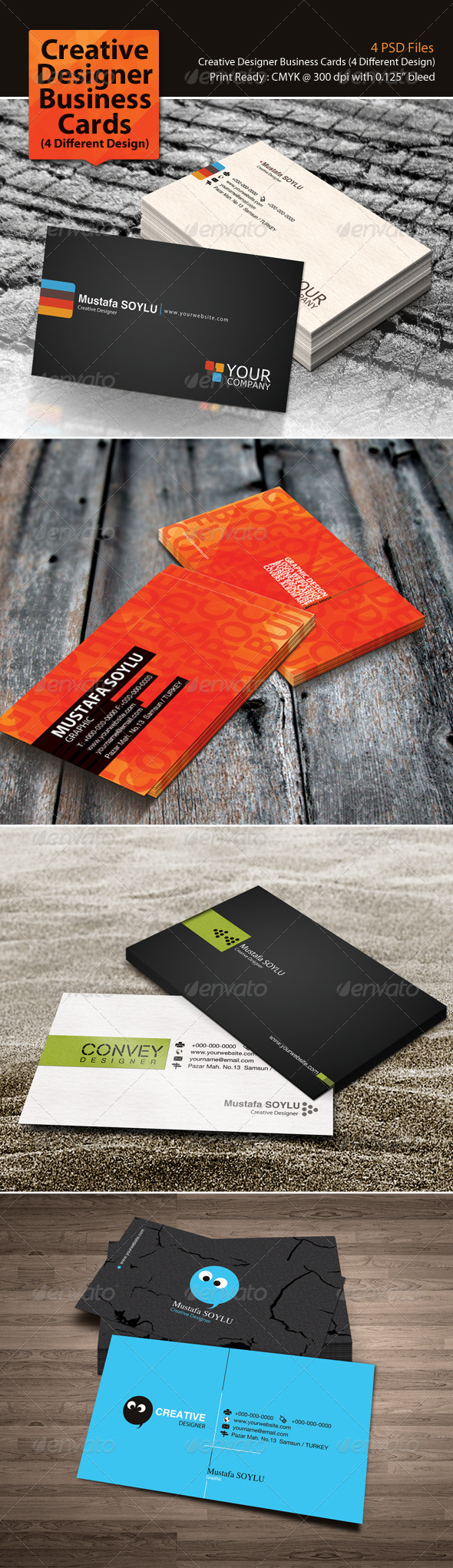 GraphicRiver Creative Designer Business Cards Pack 3187399