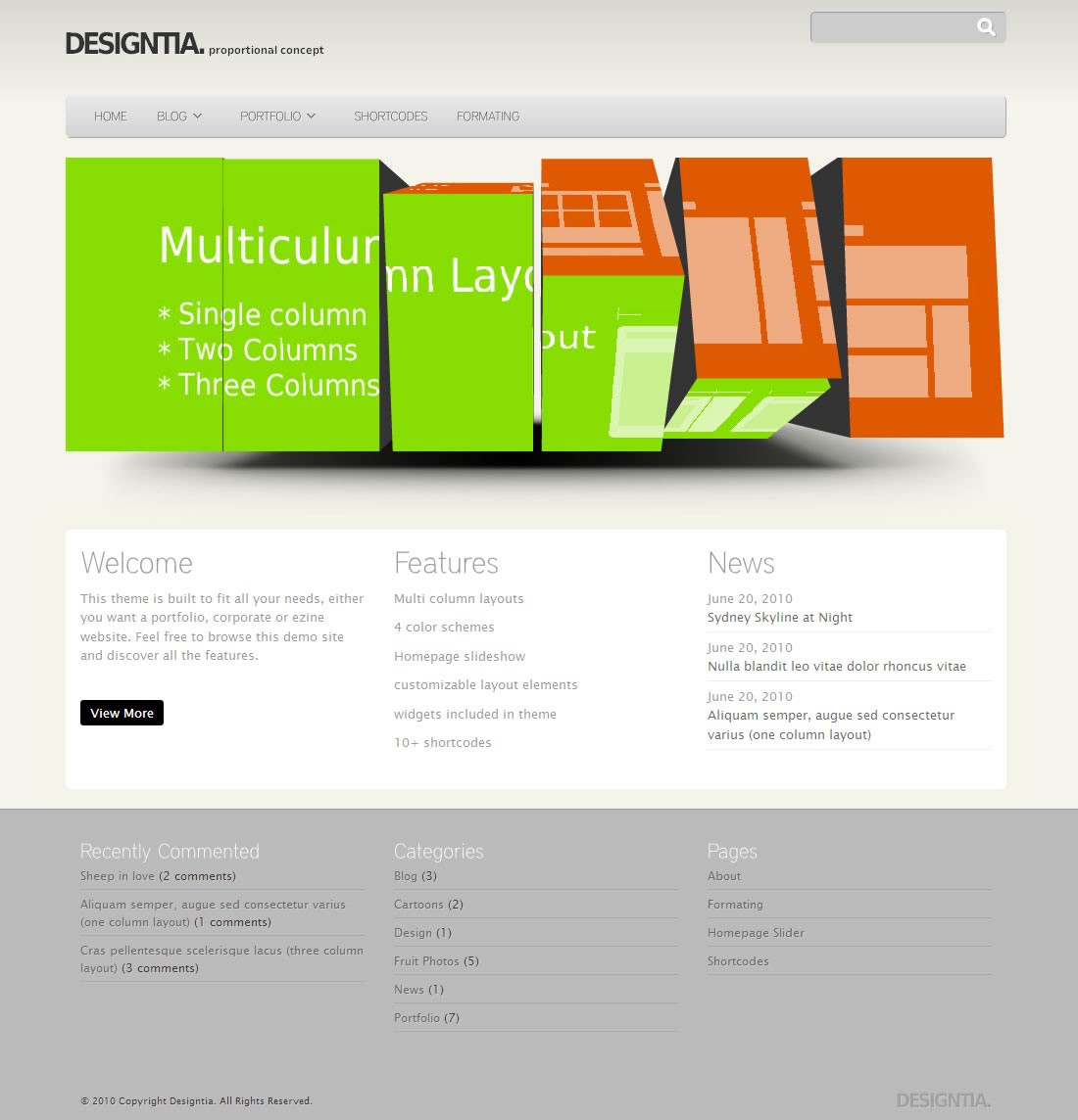 Designitia Wordpress Theme