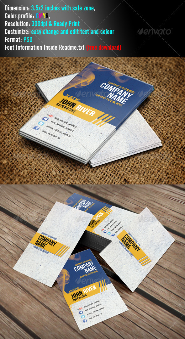 Simple Minimal - Grunge Business Cards
