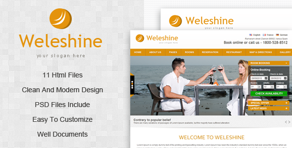 Weleshine Hotel Template - Travel Retail