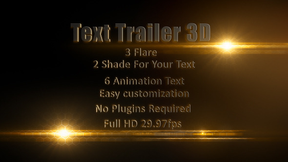 VideoHive Text Trailer 3D 3188594
