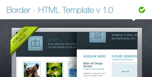 Border - HTML Template v 1.0
