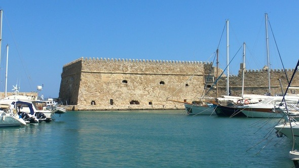 Sea Port Medieval Castle Heraklion Crete