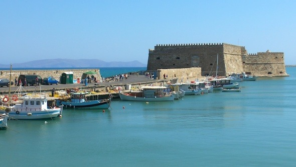 Sea Port Medieval Castle Heraklion Crete 2