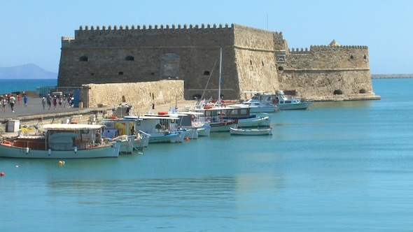 Sea Port Medieval Castle Heraklion Crete 3