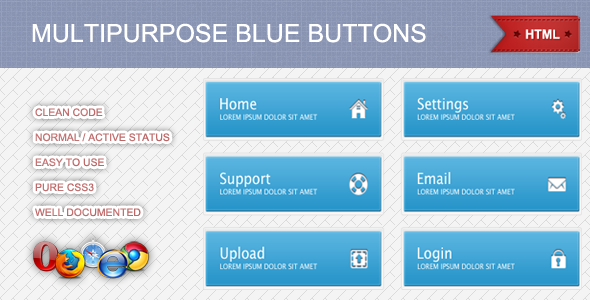 CodeCanyon Multipurpose Blue Buttons 3121860