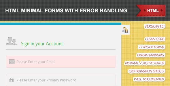 CodeCanyon 7 Sticky Minimal Forms 3090192