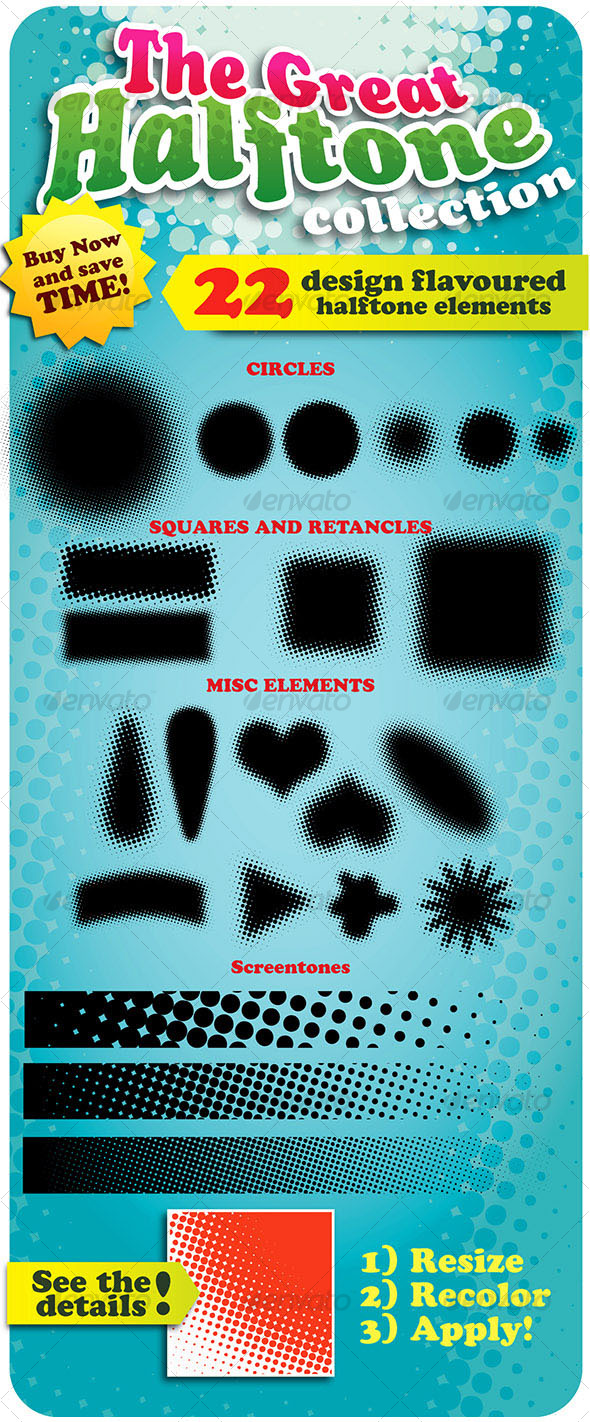 The Great Halftone Collection (22 design elements) - Decorative Symbols Decorative