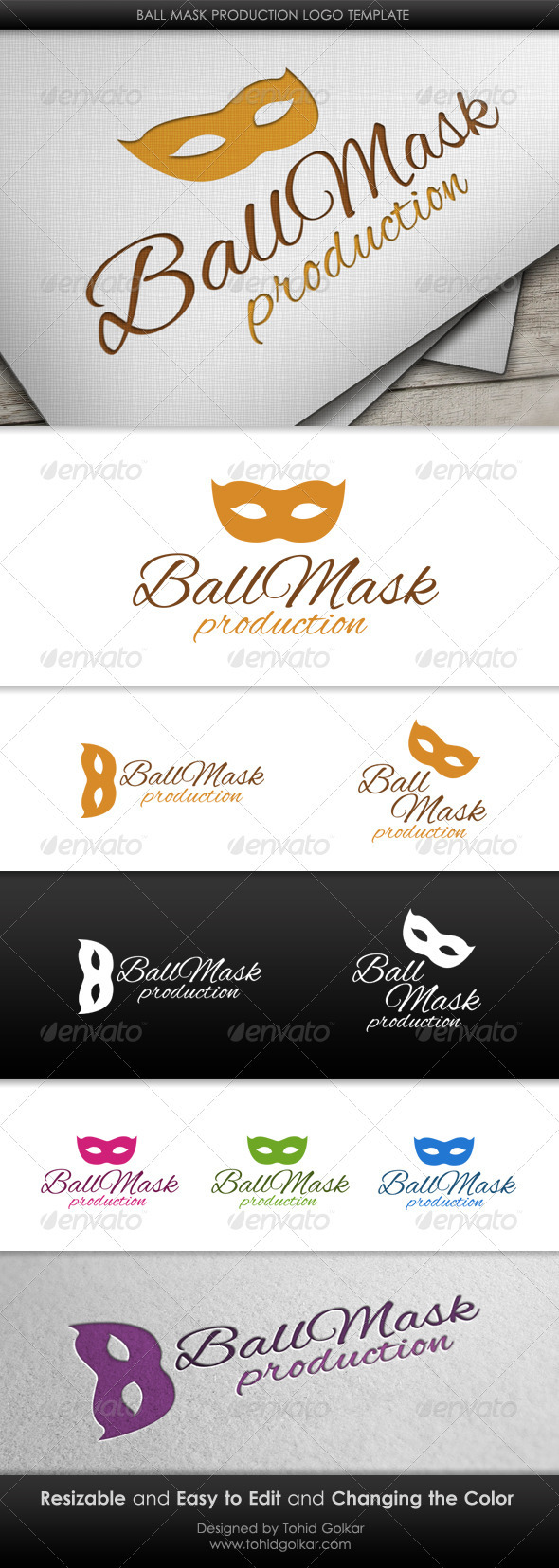 Ball Mask Production Logo Template