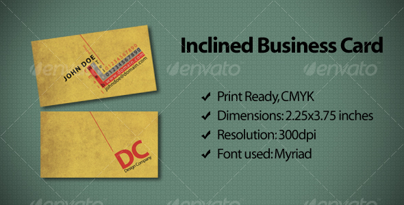 Inclined Business Card