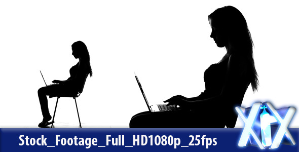 Female Typing Silhouette