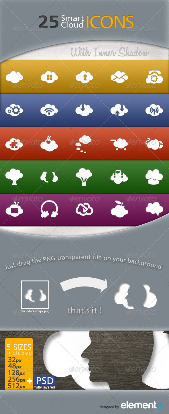 25 Smart Cloud Icons - Objects Icons