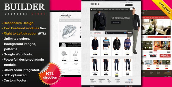 ThemeForest Builder Premium Opencart Theme 3036479
