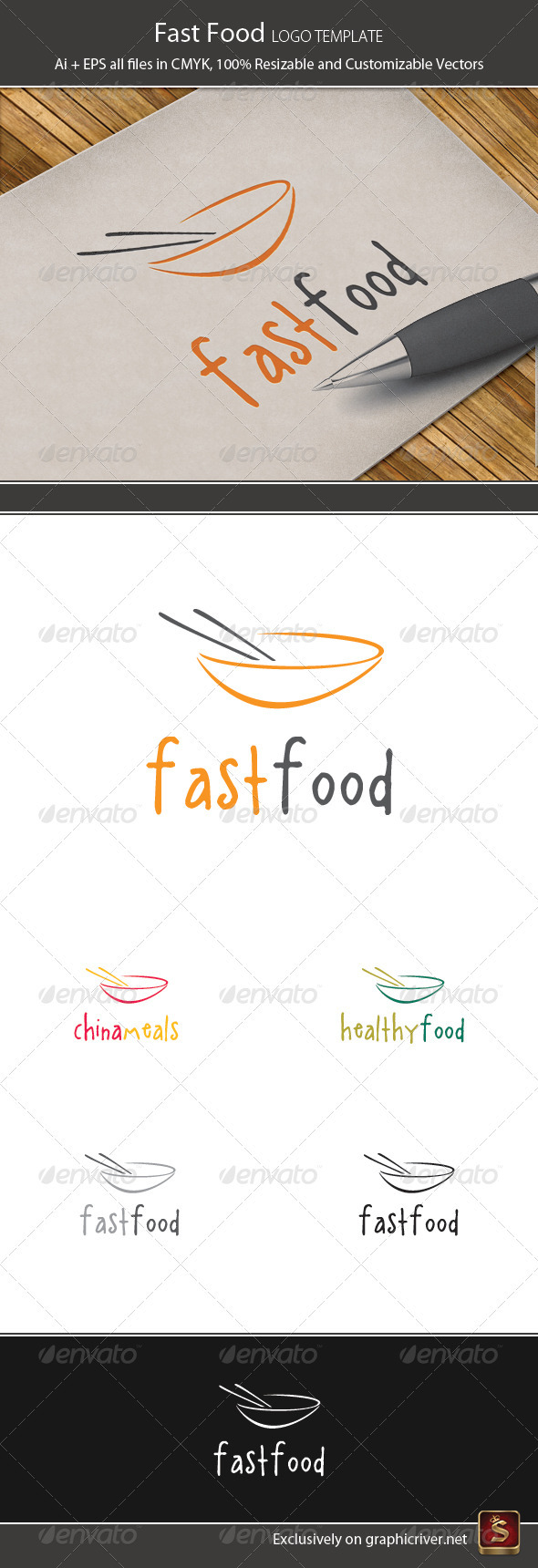 Fast Food Logo Template - Food Logo Templates