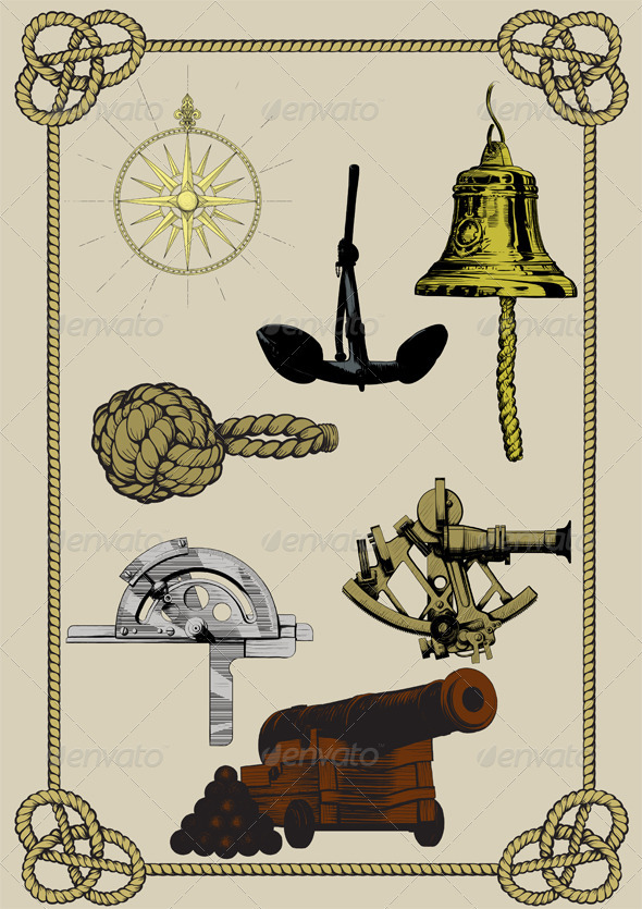 Old navy set - Objects Vectors