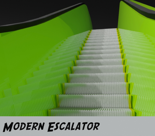 Modern Escalator - 3DOcean Item for Sale
