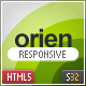 Orien One Page Responsive HTML5 Template - ThemeForest Item for Sale