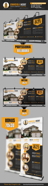 GraphicRiver Real Estate Business Billboard 3192543