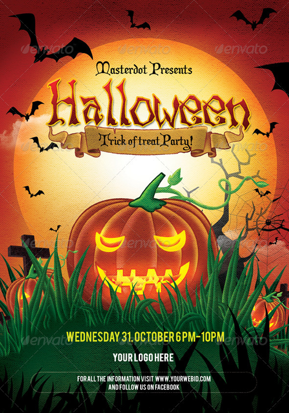 Halloween Day party Poster - Clubs & Parties Events