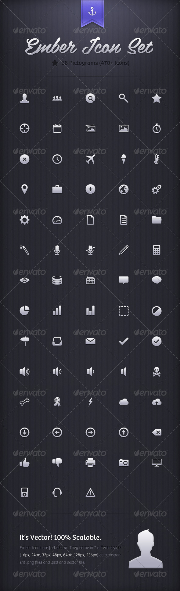Ember Icon Set 470& Icons