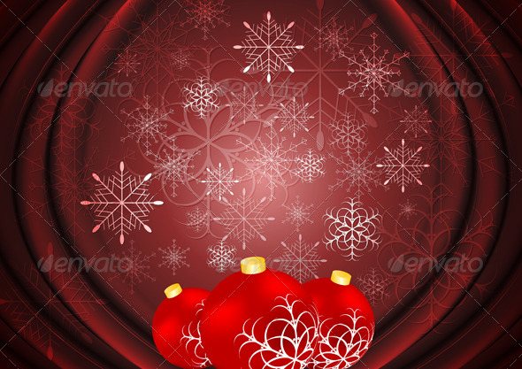 Abstract X-mas background Vector illustration