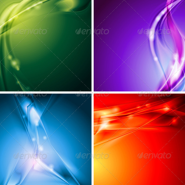 Colourful vector backgrounds - Backgrounds Decorative