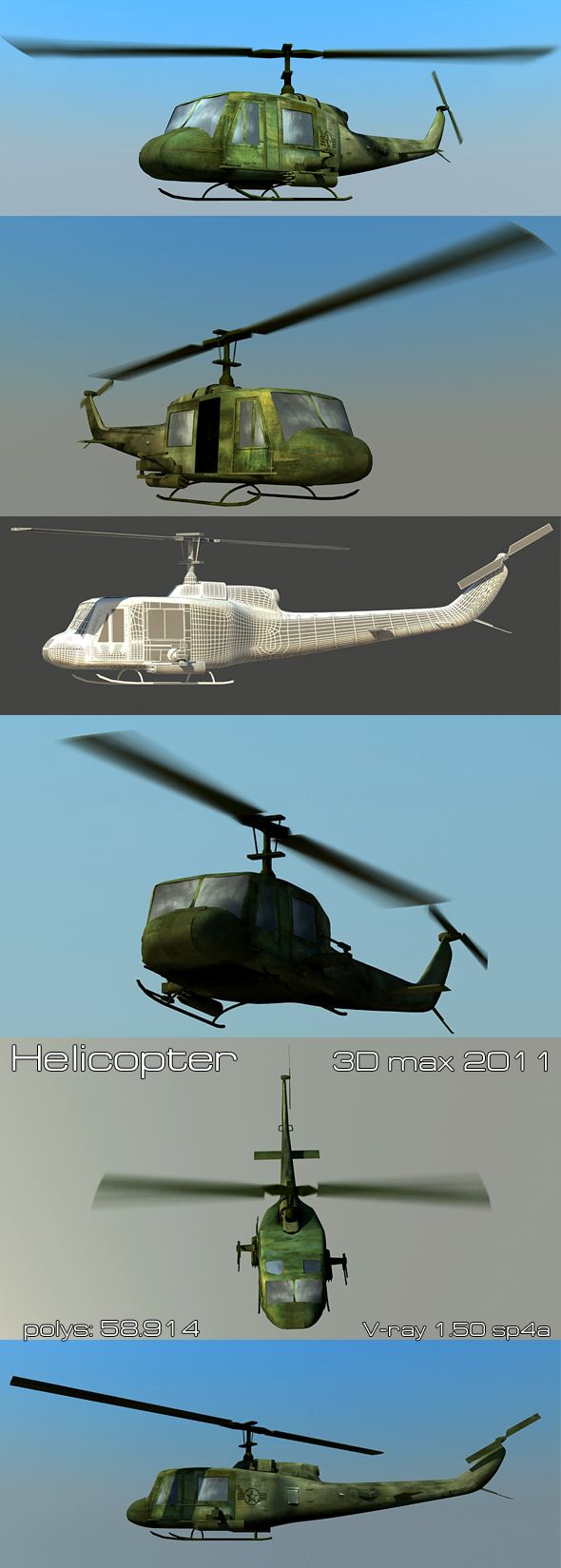3DOcean helicopter 112590