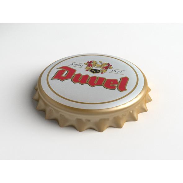 3DOcean Duvel Beer Bottle Tin Cap 3194794
