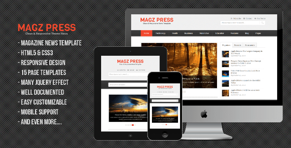 Magz Press Clean & Responsive News