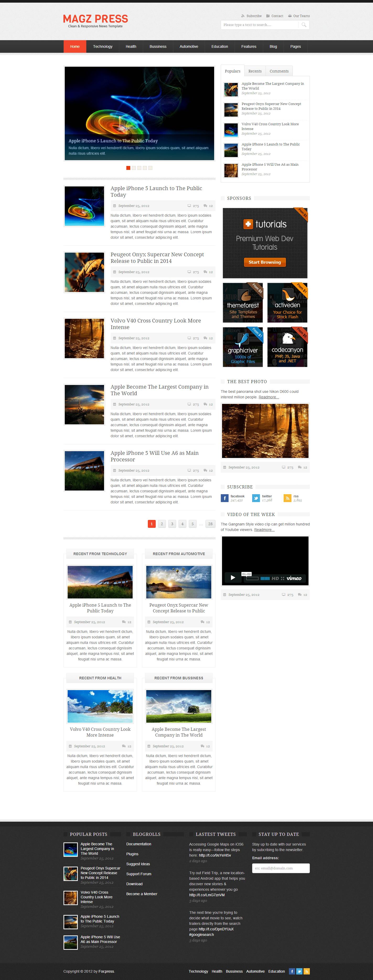 Magz Press Clean & Responsive News