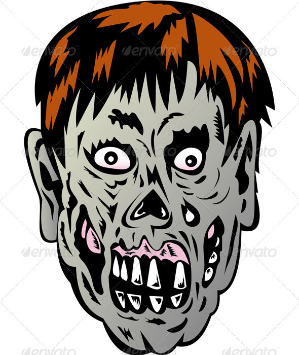 GraphicRiver Zombie Skull Face Monster 3195427